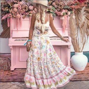 Spell Wild Bloom maxi skirt medium